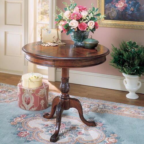 Plantation Cherry Pedestal End Table