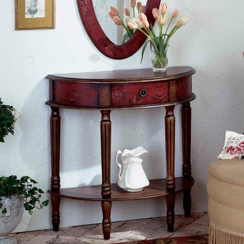 Butler artist 39 s originals demilune 1 drawer console table for Demilune console table with drawers
