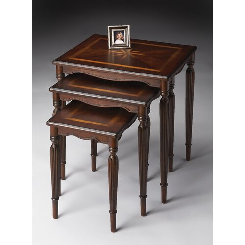 Plantation Cherry 3 Piece Nesting Tables