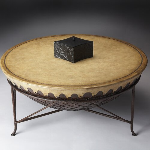 Round Drum Coffee Table Wayfair