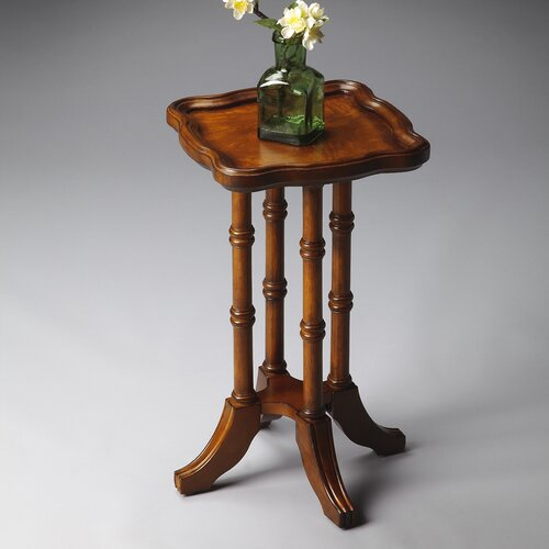 Masterpiece Square Scatter Table in Distressed Olive Ash Burl