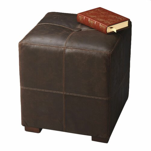 Butler Modern Expressions Leather Cube Ottoman