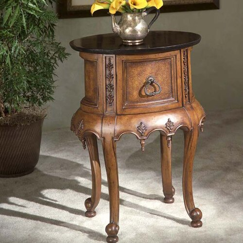 Connoisseur's Fossil Stone End Table
