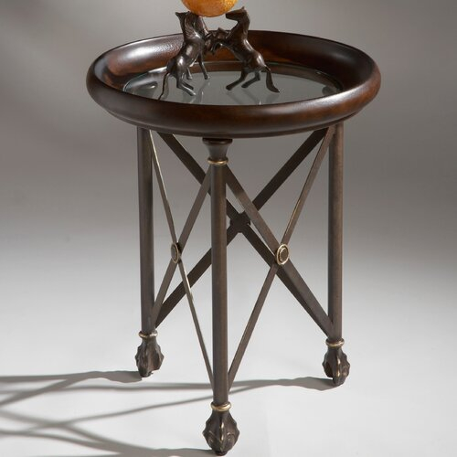 Butler Metalworks Round X End Table