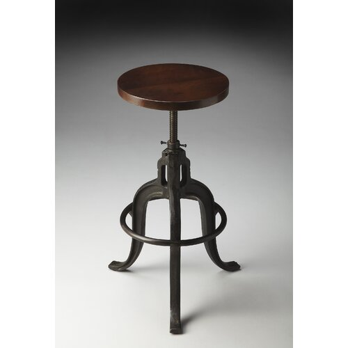 Wooden Revolving Stool Light Brown Swivel Bar Pub Chair: Metalworks Revolving Adjustable Height Bar Stool