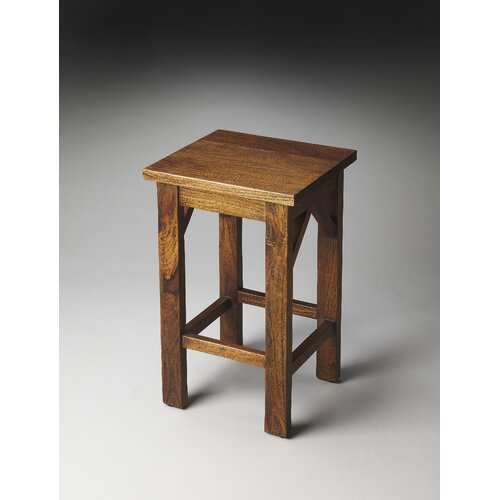 Butler Mountain Lodge Hubbard Solid Wood Backless Bar Stool