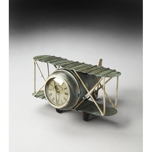 Hors D'oeuvres Kitty Hawk Replica Airplane Clock
