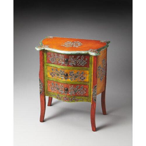 Artifacts Mona Hand Painted Accent Chest