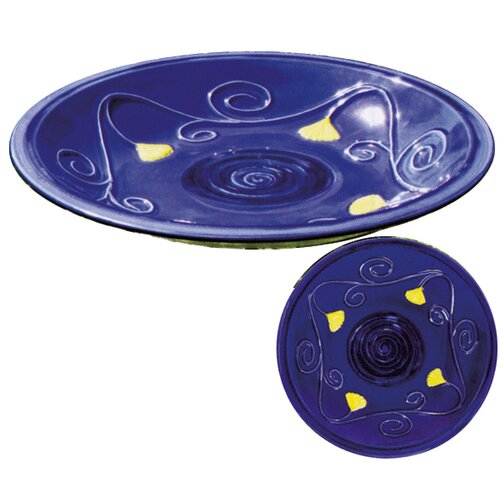 ACHLA Lapis Bird Bath Bowl and Stake