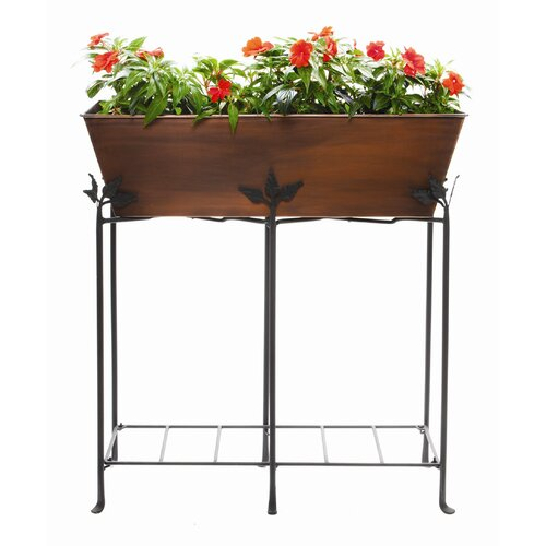 ACHLA Galvanized Tin Rectangular Flower Box Planter