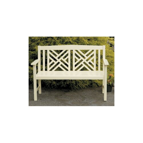 ACHLA Fretwork Entryway Wood Garden Bench