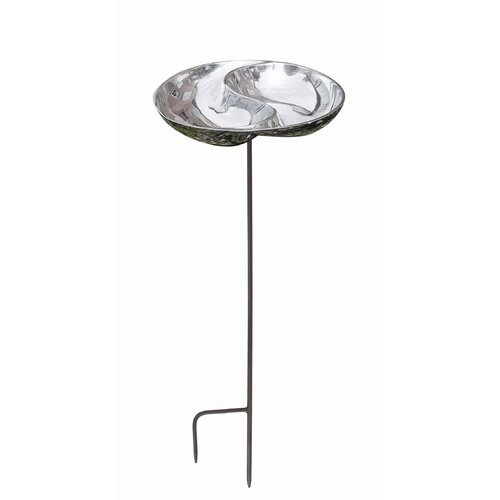 Yin and Yang Birdbath with Stand