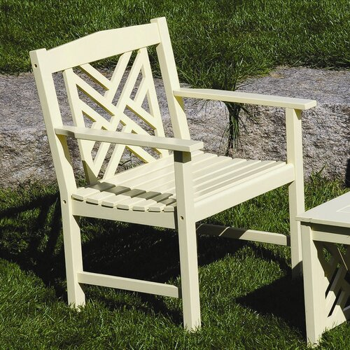 ACHLA Fretwork Dining Arm Chair