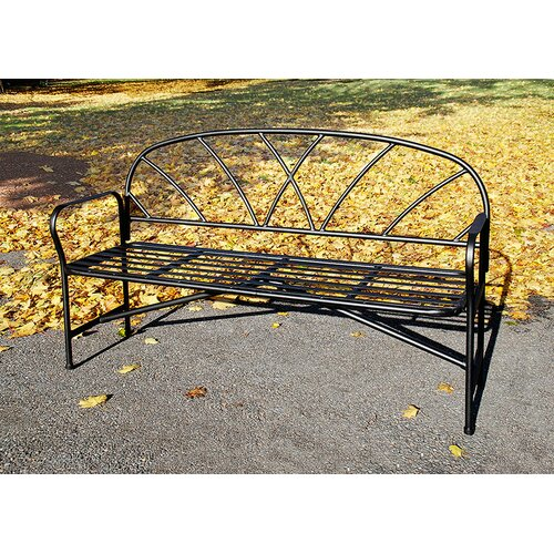 Achla Lattice Wrought Iron Garden Bench Reviews Wayfair