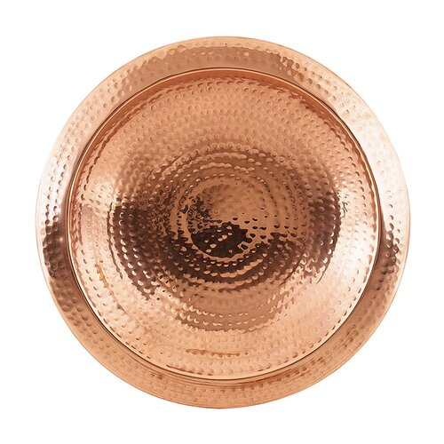 ACHLA Hammered Copper Bowl with Rim