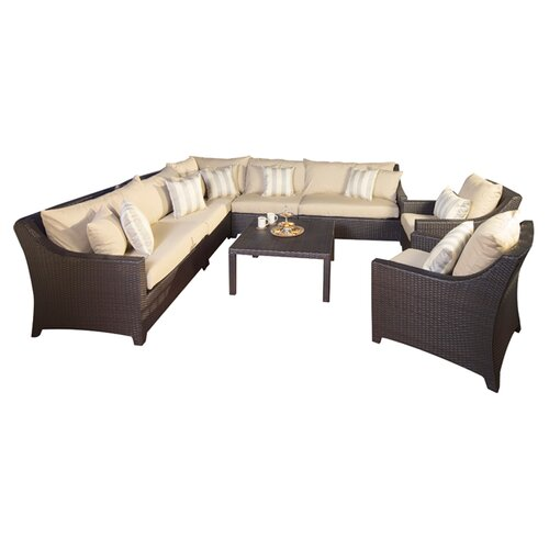 RST Brands Slate Deco 9 Piece Deep Seating Group with Cushions