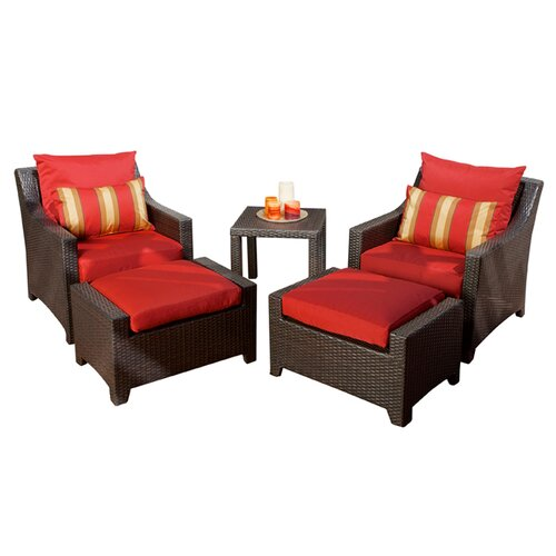 RST Outdoor Cantina 5 Piece Deep Seating Group with Cushions