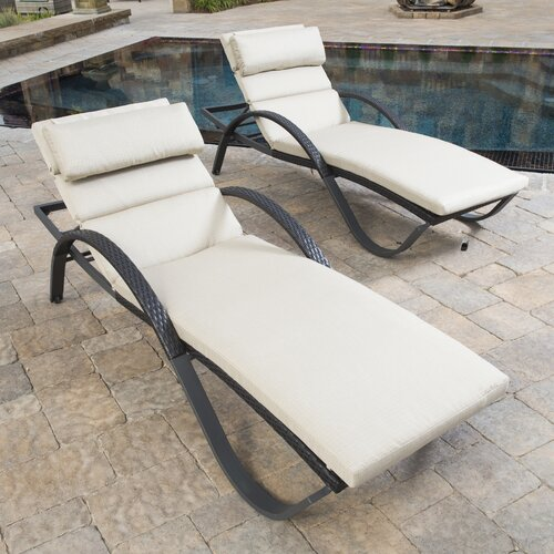 Slate Deco Lounge with Cushions (Set of 2)