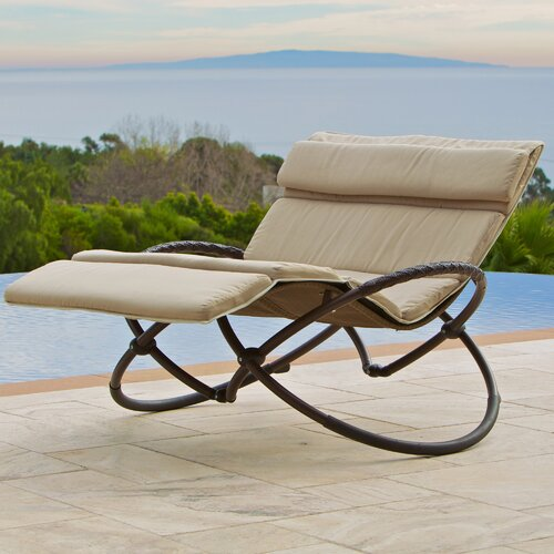 Double Orbital Zero Gravity Chaise Lounger with Cushion