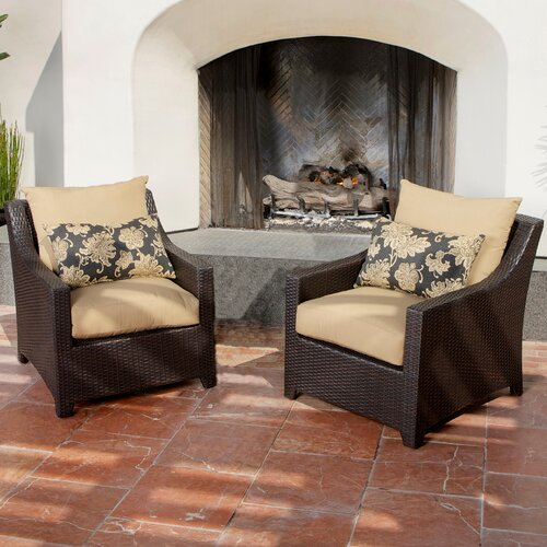 RST Outdoor Delano Club Chair with Cushions (Set of 2)
