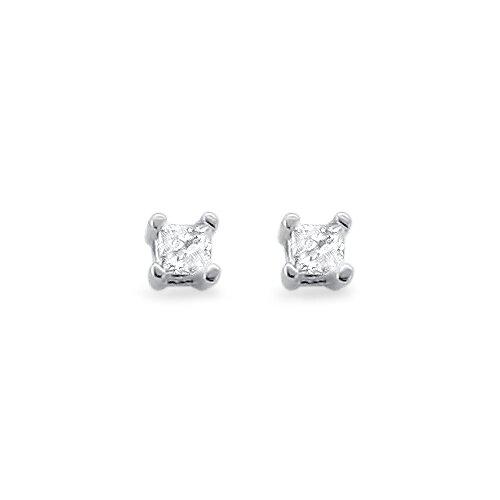 14k White Gold TDW Diamond Stud Earrings