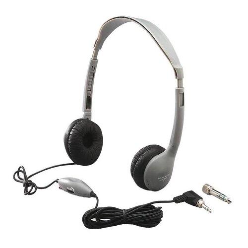 Hamilton Electronics Leatherette Ear Cushioned Personal Volume Control Educational Headphone