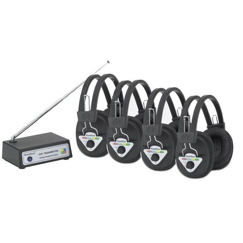 Hamilton Electronics Multi Wireless Listening Center with 4 Headphones