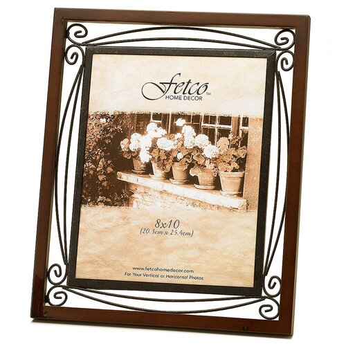 Fetco Home Decor Tuscan Collington Double Scroll Picture Frame