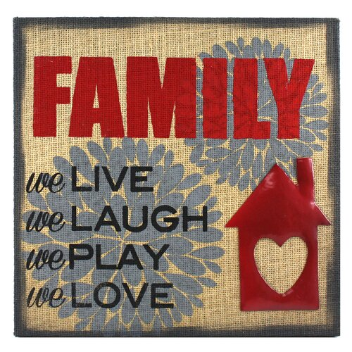 Percher Family We Live We Laugh We Play We Love Textual Art