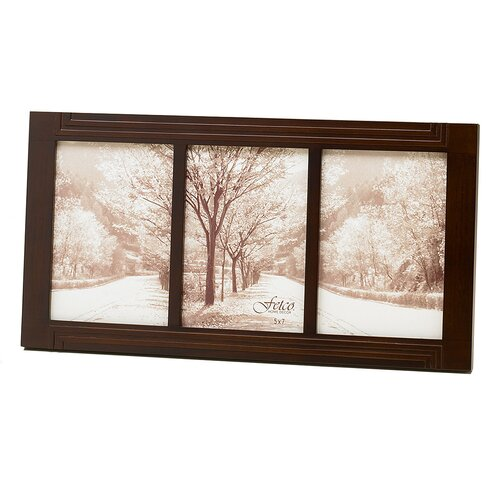 Fetco Home Decor Arts and Crafts Wheelock Triple Picture Frame