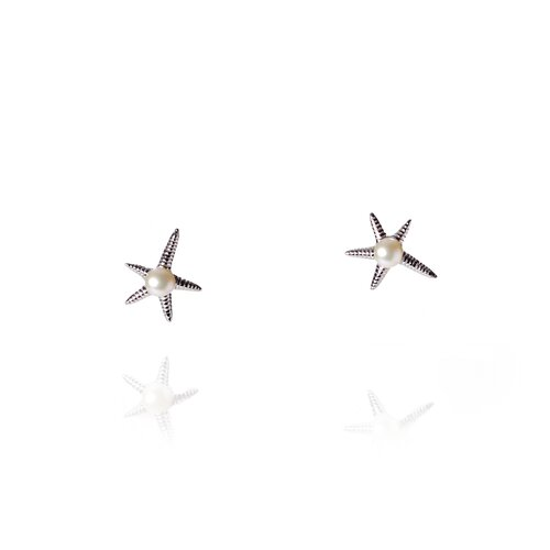 Eco Opulence Starfish Cultured Pearl Earring