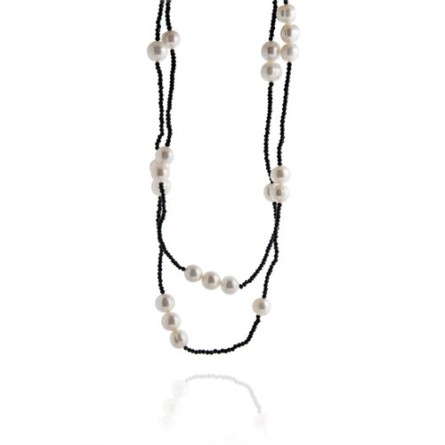 Spinal Laser Cut Spinal and Cultured Pearl Necklace