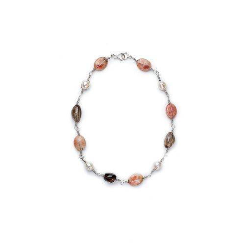 Quartz Baroque Pearl and Smokey Necklace