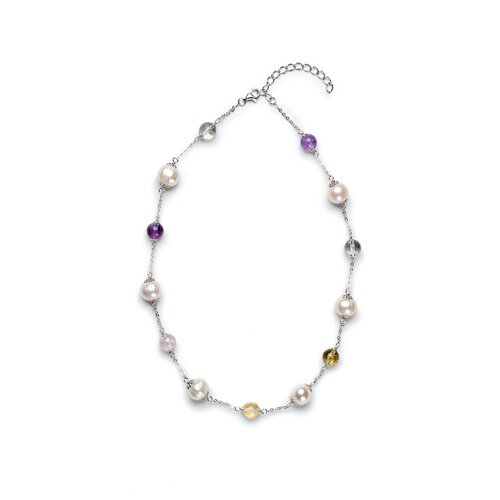 Gemstones Cultured Pearl Necklace