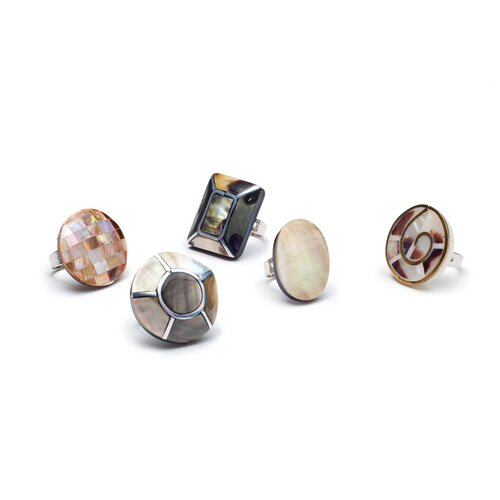 Eco Opulence Mother of Pearl Ring