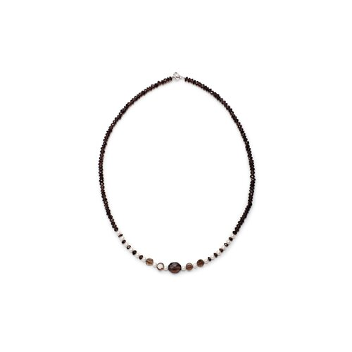 Smokey Quartz and Cultured Pearl Necklace