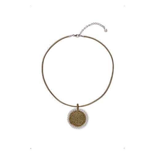 Calia Leather Cultured Pearl Necklace