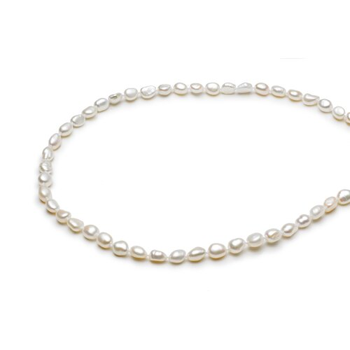 Sterling Silver Beaded Cultured Pearl Necklace