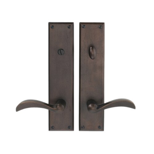 Hamilton Sinkler Deadbolt Privacy Indoor Door Handle with Washington Lever