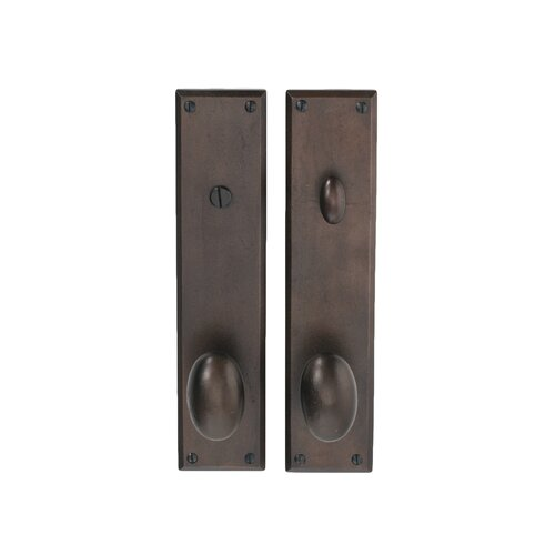 Hamilton Sinkler Deadbolt Privacy Indoor Door Handle with Wilson Oval Knob