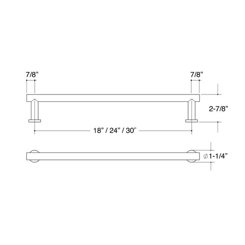 Hamilton Sinkler Bath Suites Towel Bar