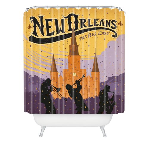 Anderson Design Group Woven Polyester New Orleans One Shower Curtain
