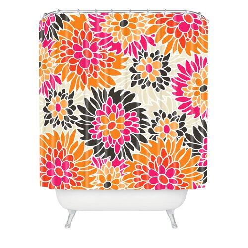 Andrea Victoria Summer Tango Floral Shower Curtain