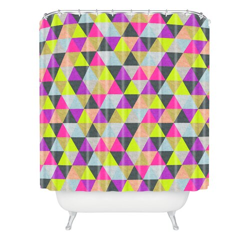 DENY Designs Bianca Woven Polyester Ocean of Pyramid Shower Curtain