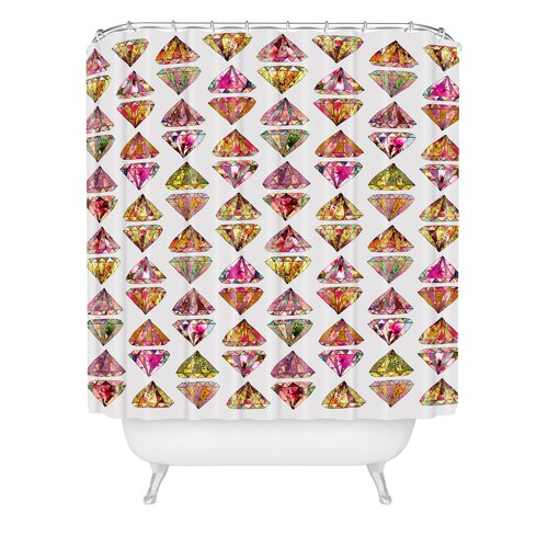 DENY Designs Bianca Woven Polyester These Diamonds Are Forever Shower Curtain