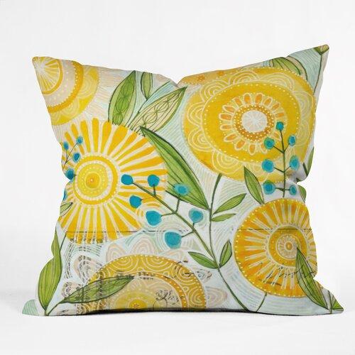 DENY Designs Cori Dantini Sun Burst Flowers Polyester Throw Pillow