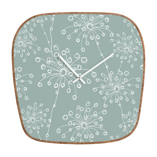 DENY Designs Rachael Taylor Quirky Motifs Wall Clock