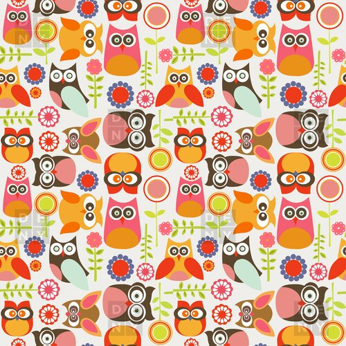 DENY Designs Valentina Ramos Polyester Cute Little Owls Shower Curtain