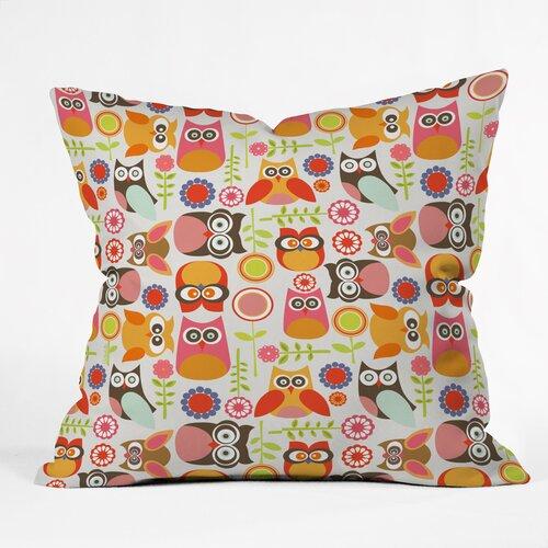 Valentina Ramos Cute Little Owls Indoor/Outdoor Polyester Throw Pillow