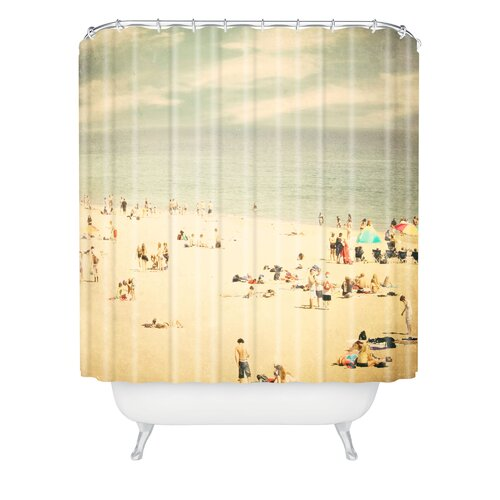 Shannon Clark Woven Polyester Vintage Beach Extra Long Shower Curtain